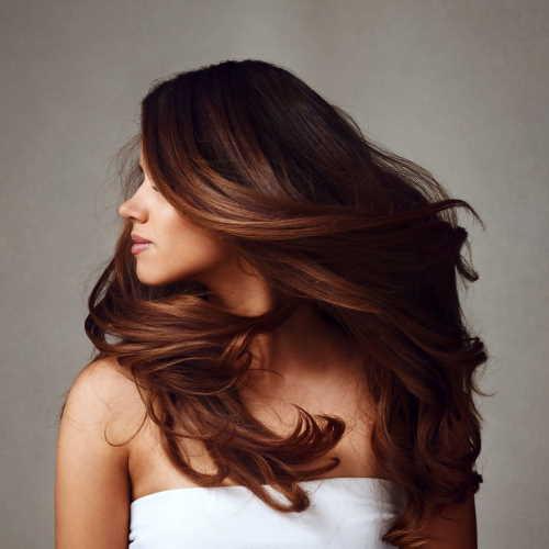 fresh look on hair